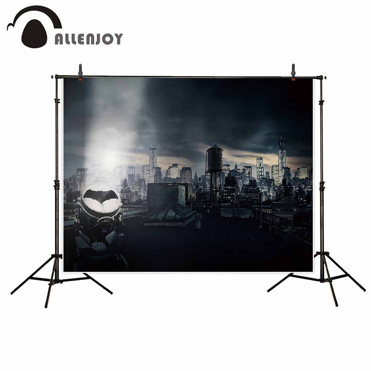 Allenjoy newborn photography background dark Batman city evenge super hero photo studio photocall high quality not blurry allenjoy photography backdrop library books student child newborn photo studio photocall background original design