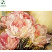 Pink Tulip Diamond Painting Full Square Diamond Embroidery Sets Unfinished DIY Needlework Flower Series Painting Home
