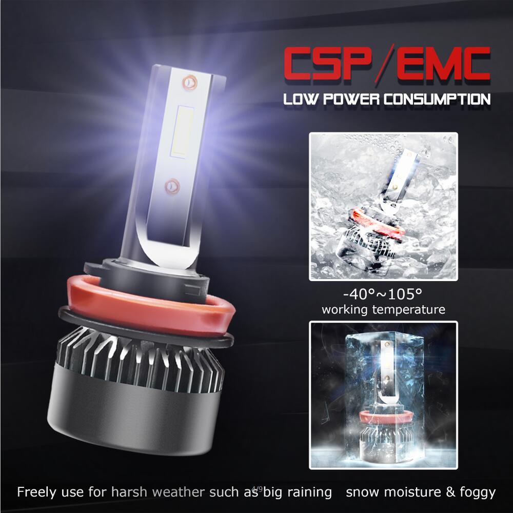 2PCS H8 H9 H11 20000LM CREE LED Conversion Headlight kit Beam Light Lamp Bulbs