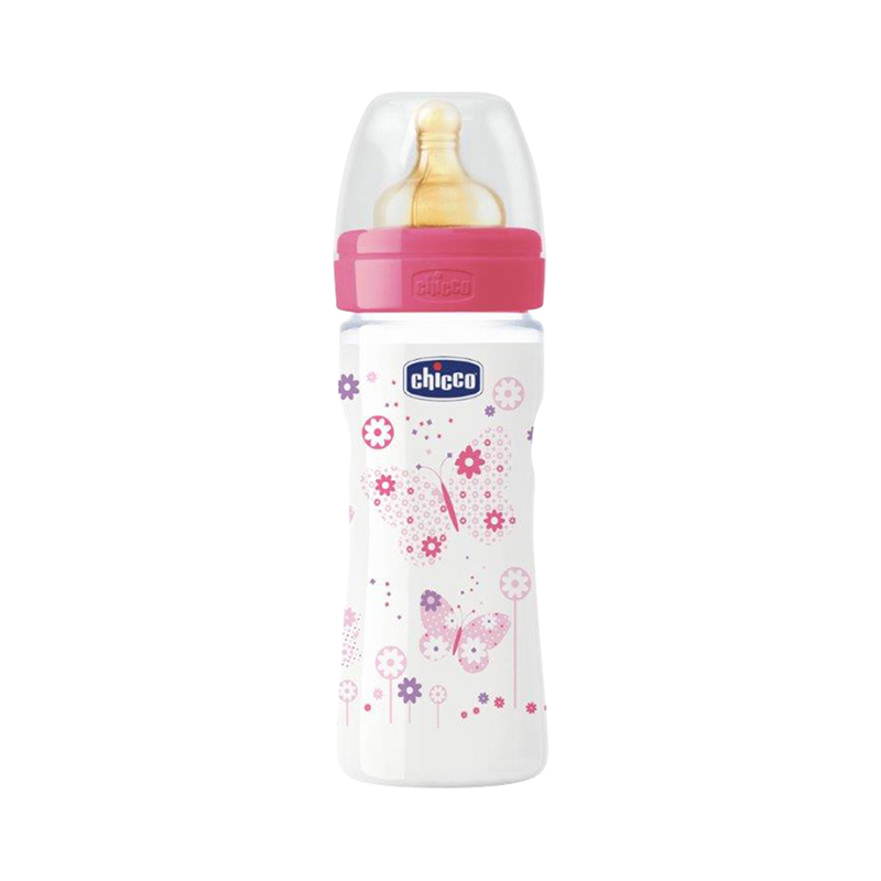 цены Bottle Chicco Well-Being Girl 2 month +, 250ml, Pink feedkid