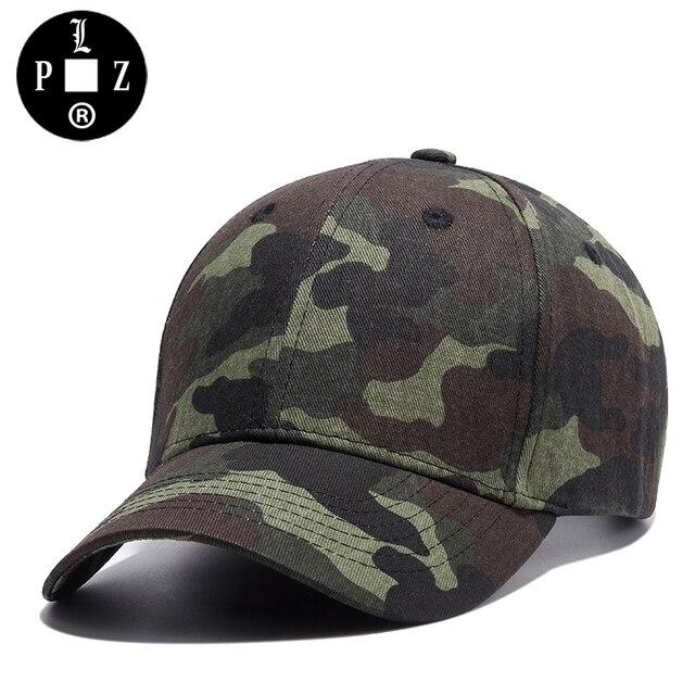 1d0bf4d5e1f PLZ 2017 Army Green Camouflage Baseball Cap Men Summer Fashion Cap Women  Camo Hats visor Adjustable