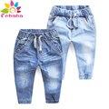 Enbaba детские джинсы брюки мальчики осень зима 2016 бренда случайные мальчики джинсы синие Джинсовые Брюки детей мальчиков одежда для подростков