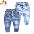 Enbaba niños jeans pantalones niños otoño invierno 2016 marca casual boys blue jeans de Mezclilla Pantalones niños chicos ropa para adolescentes