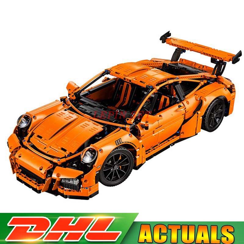 Здесь продается  Stock LEPIN 20001 Technic Series Race Car Model 20001B Building Kit Blocks Bricks Set 42056 Educational 23002 DIY Birthday Gifts  Игрушки и Хобби