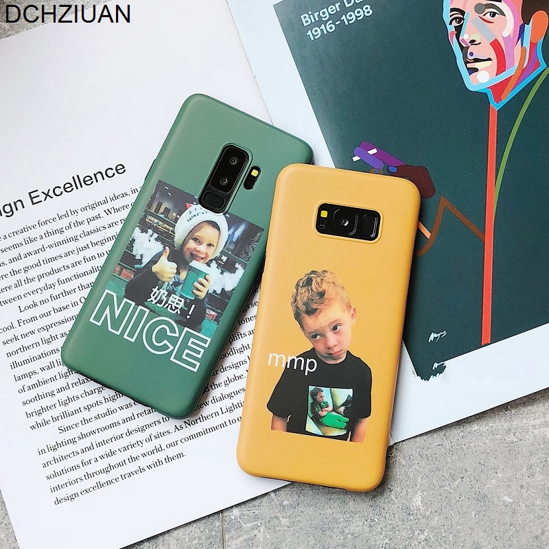 DCHZIUAN <font><b>Cute</b></font> MMP Smile Boy Girl Soft <font><b>Phone</b></font> <font><b>Case</b></font> For <font><b>Samsung</b></font> Galaxy S8 <font><b>S9</b></font> Plus Note 8 Note 9 <font><b>Case</b></font> Cover Silicone Pattern Coque image