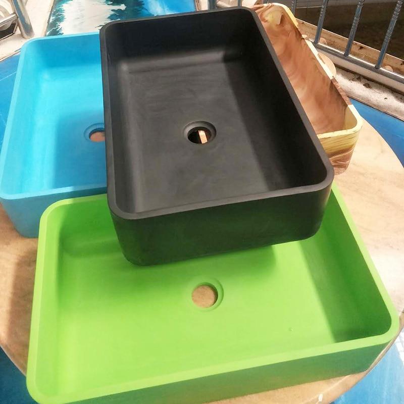 Pia retângulo molde de silicone diy molde moldes para concreto de cimento pia piscina Ao Ar Livre