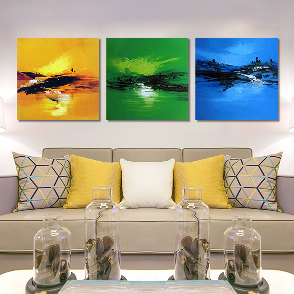 Unframed Multiple Pieces HD Canvas Painting Abstract Brushes Graffiti Prints Wall Pictures For Living Room Wall Art Decoration