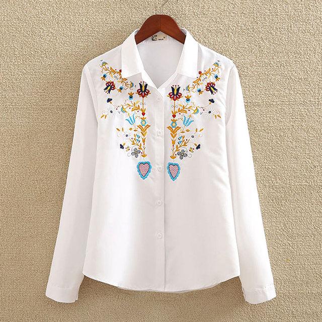 White Cotton Shirt  Autumn New Fashion  Blouse Long Sleeve Casual Tops Loose Shirt Blusas Feminina plus size