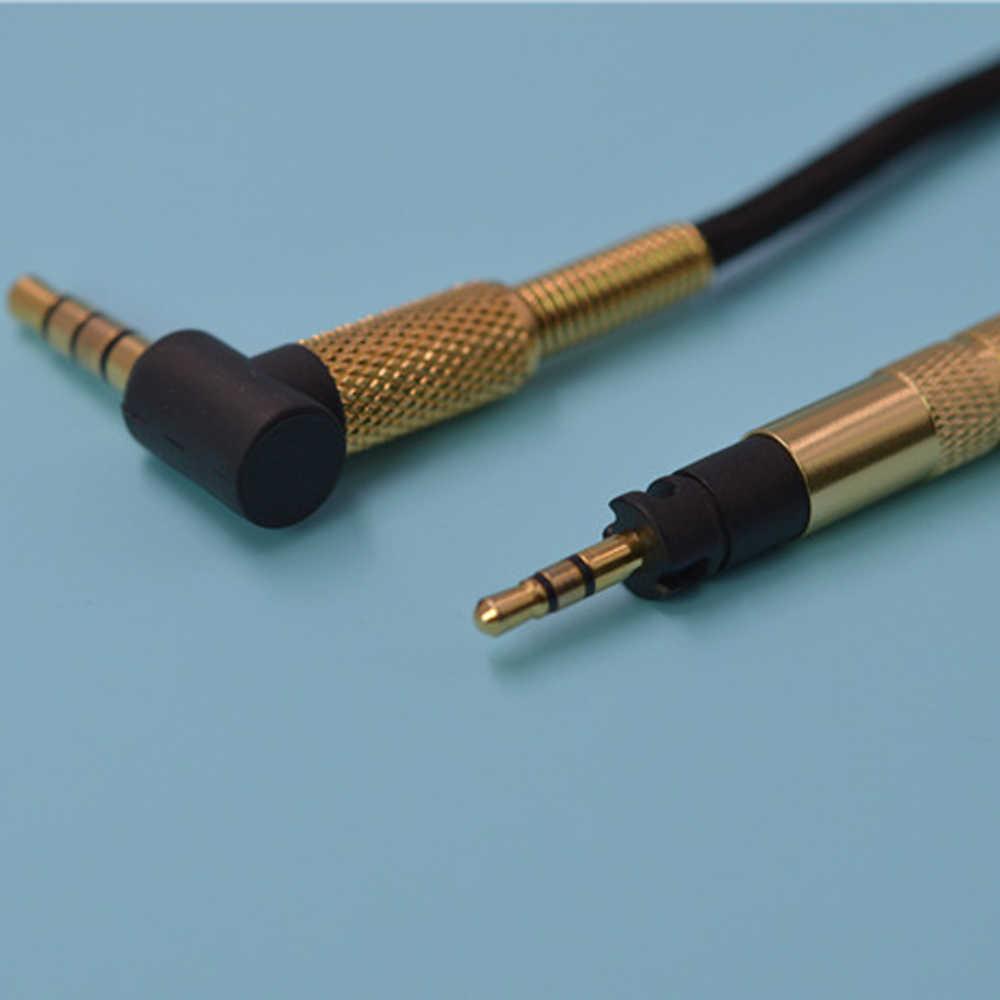 Zamienny kabel Audio do Sennheiser Momentum Momentum 2.0 na ucho słuchawki douszne posrebrzany kabel z mikrofonem