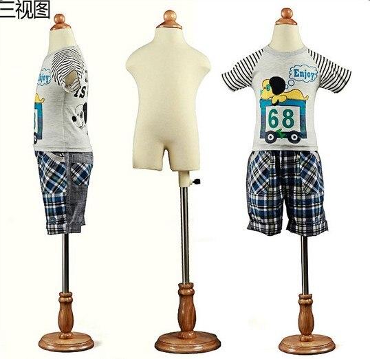 7 9 years children mannequin body for clothes maniquis para ropa Manikin Kid Dresses Display Round
