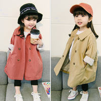 2018 New Spring Coats Girls Jackets For Kids Outerwear Baby Girls Coat Long Sleeve Children's Jackets Hooded Clothing