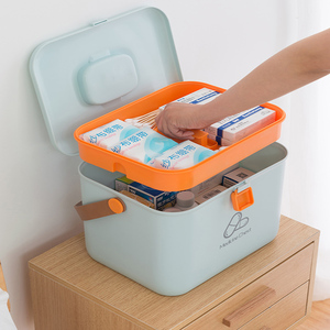 Image 2 - פלסטיק ערכת עזרה הראשונה רפואית תיבת גדול אחסון לרפואה ארגונית רפואת חזה חירום מיכל בית ערכה רפואית