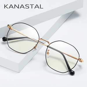 Image 2 - Anti Blue Light Glasses Women Men  Spectacle Frame Computer Gaming Eyewear Goggle for Men Radiation Resistant Glasses UV400