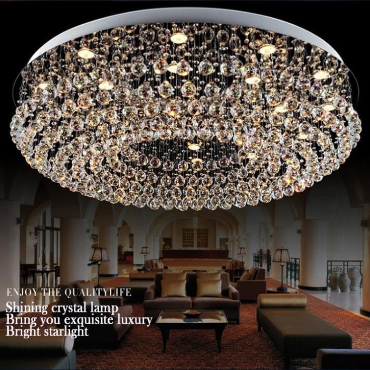 Chandeliers lustres de sala modern crystal chandelier Dia1000mm*H320mmliving room Chandeliers lighting modern crystal chandelier
