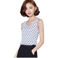 Summer Short Wild Striped Camisole Female Feminino Tank Tops Loose Chiffon Sleeveless Crop Top Brandy T