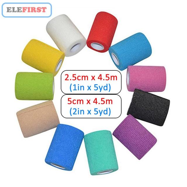 """1 pièces 1 """"x5Yards/2"""" x5Yards couleur auto-adhésif Non-tissé élastique pansements cohésifs pour le traitement des plaies d'urgence"""