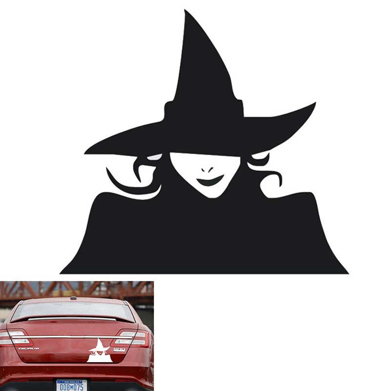 EE support Hot Sales Car Styling 13 x 12CM Car Body Stickers Vinyl Decal Personalized Cartoon Witch Anti Scratch Car Door Decor