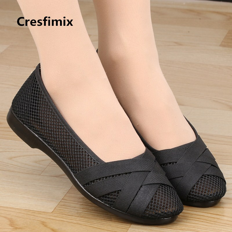 Women Casual Comfortable Spring & Summer Slip on Flat Shoes Lady Leisure Black Nurse Work Shoes Zapatos De Mujer Cool Shoe E2038 2016 spring shoes a flat with nurse shoes the leisure trend of korean flat shoes
