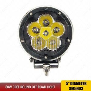 Image 4 - אור משולבת 60 W offroad LED עבודה קל 5 inch 4x4 Led זרקורים מבול נהיגה עבודה קלה עבור SUV משאית סירת 12 V 24 V SUV טרקטורונים x1