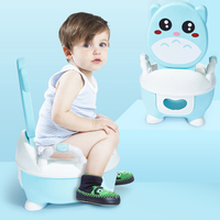 Cartoon Cute Children Potty Toilet Boy&Girl Portable Urinal Comfortable Padded Soft Kids Backrest Bowl Training Pan Toilet Seat