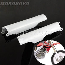 Motocross Enduro Voorvork Guard Wit Plastic Frame Bescherming Cover Voor Honda CR125 CR250 CR500 1993-2018 CRF250 CRF450 R X(China)