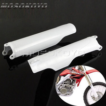 Motocross Enduro Front Fork Guard White Plastic Frame Protection Cover Guard for Honda Cr125 Cr250 Crf250r Crf450r Cr500 цена