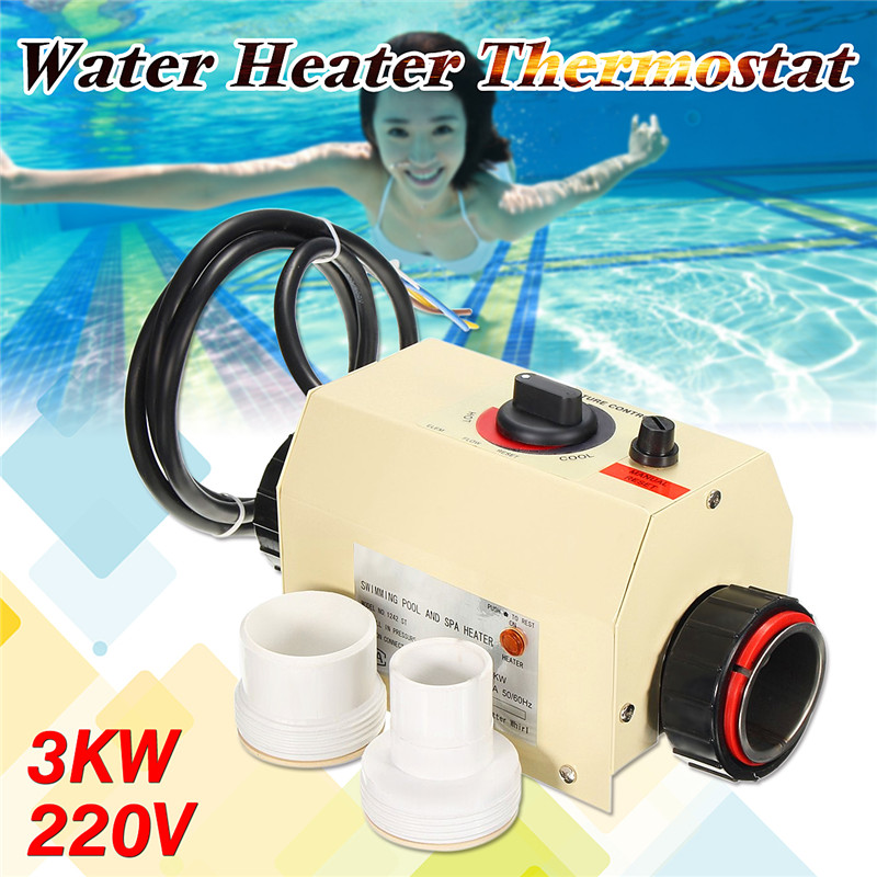Water Sports 3KW Electric Swimming Pool and SPA Bath Heating Tub Water Heater Thermostat 220V Swimming Pool Accessories 3kw 220v stainless steel heater element for lx h30 rs1 spa heater and hot tub theater