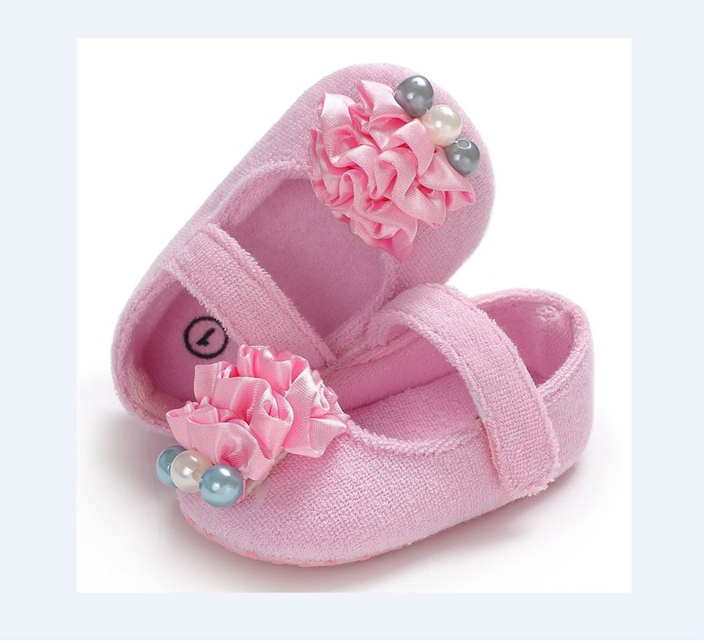 Pudcoco Cute Newborn Infant Baby Girl Soft Sole Crib Shoes Anti-slip Sneaker Prewalker 0-18 Months Helen115