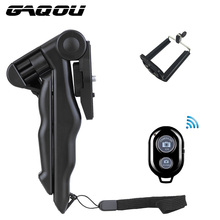 GAQOU Universal Mini Tripod With Cell Phone Holder Remote Control 90″ Rotation Desktop & Handle For Go pro Digital Camera