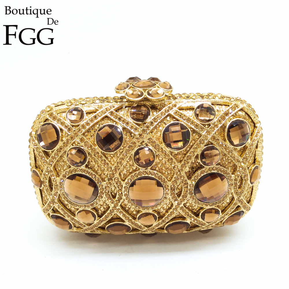 ФОТО Gift Box Women Diamond Lattice Hard Case Hollow Out Giant Topaz Crystal Evening Bags Wedding Handbag Clutch Metal Clutches Purse