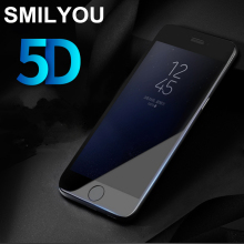 SMILYOU 5D Tempered Glass for iphone 6 6s 7 8 glass 4D Curved Premium Screen Protector Film for iPhone 7Plus glass 8 Plus glass