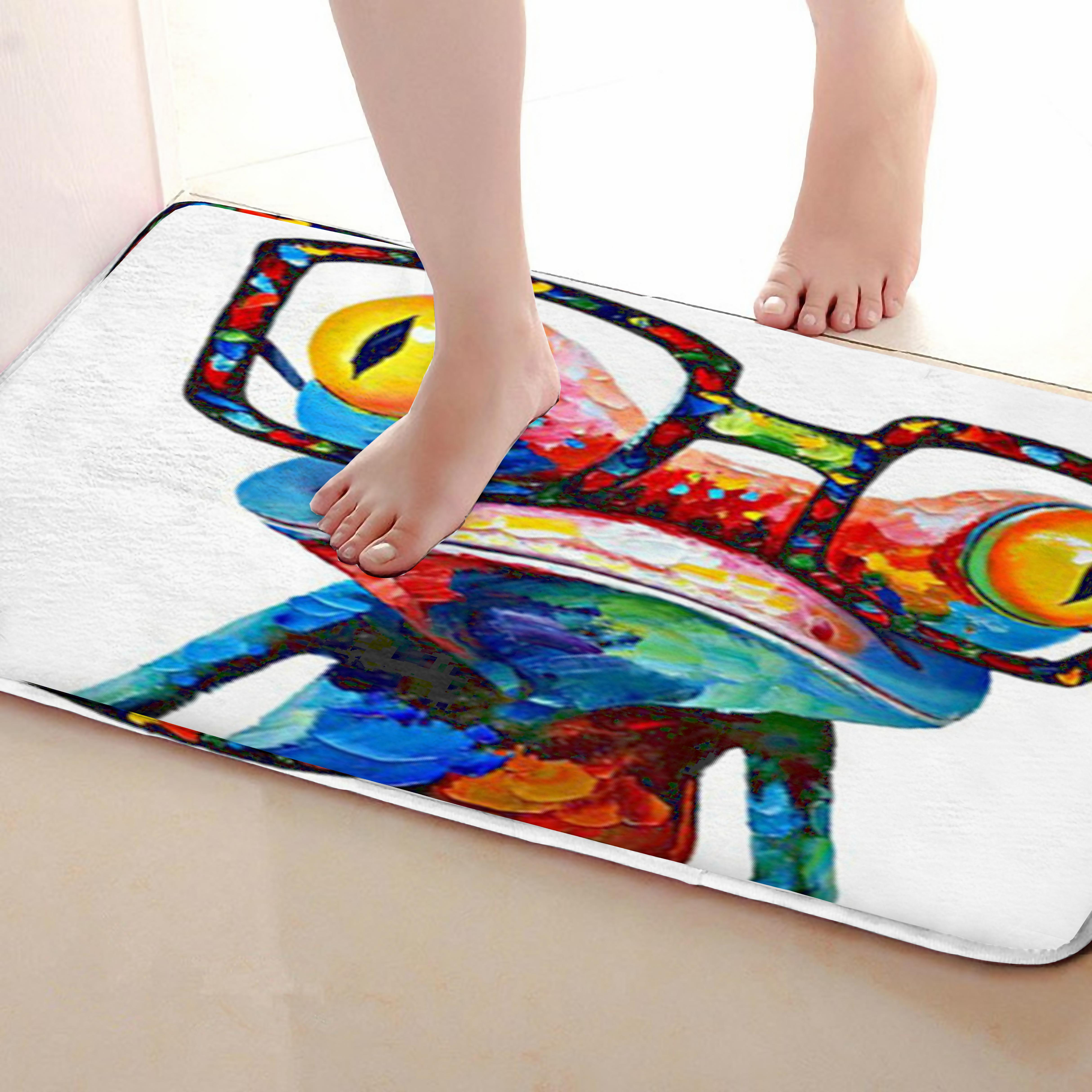 Frog Style Outdoor Mats,Funny Anti Skid Bath Mat, Doormats