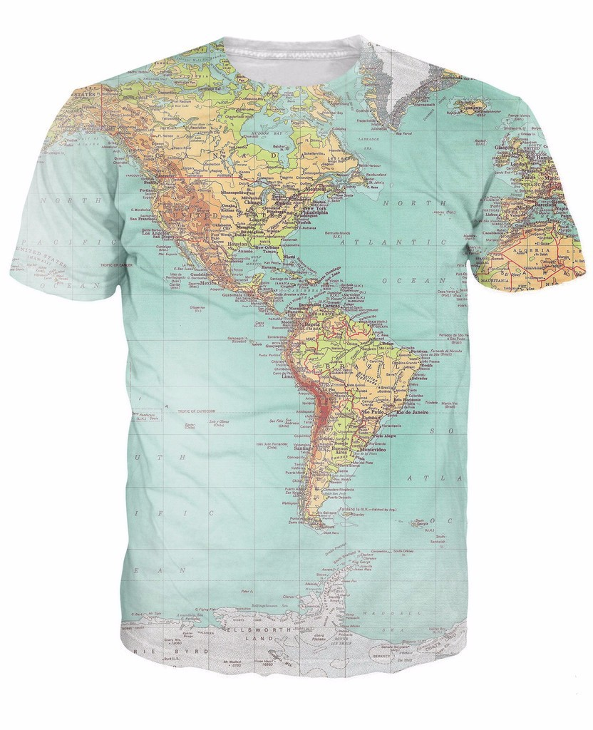World Map T Shirt Urban Threads Hipsters Retro Globe Image Of The