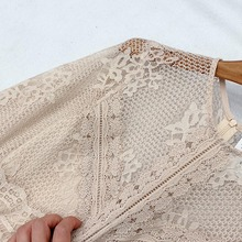 O Neck Lace Patchwork Pleated Fairy Dress