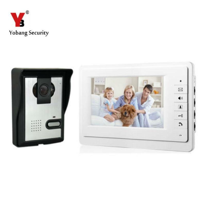 Yobang Security 7 Color Video Door Phone System Unit Doorbell Intercom System Interphone Doorphone Home Intercom System