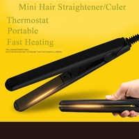 YUCHUN Mini Ceramic Electronic Hair Straightener Curler Straightening Corrugated Hair Flat Irons Hair Crimper Straightener