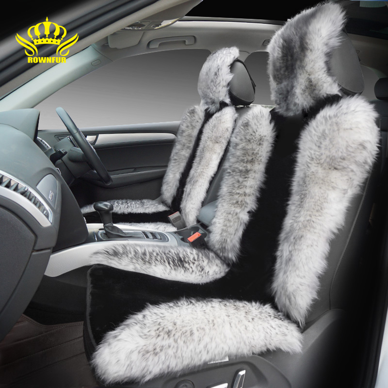 цена на Australian Sheepskin Car Seat Cover Universal For Cars Artificial Plush Car Seat Cushion Auto Accessories Interior Protect Seats