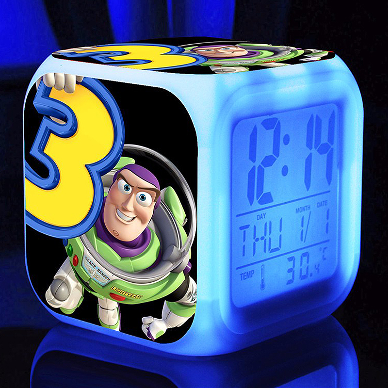 Toy story buzz lightyear Alarm Clocks,Glowing LED Color
