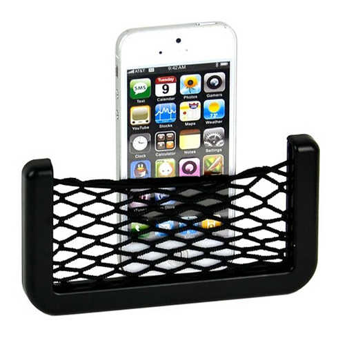 Evrensel araba organizatör Araba Koltuğu Yan Arka Depolama Net Çanta telefon tutucu cep düzenleyici Siyah