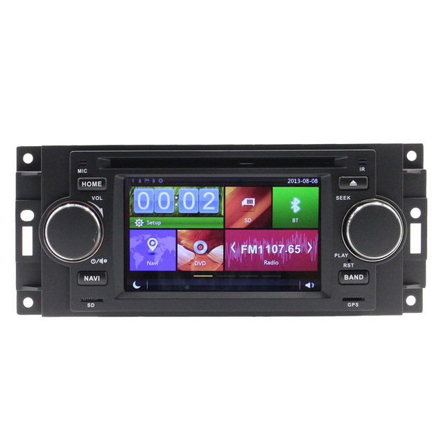 "5"" Car DVD Player For <font><b>Chrysler</b></font> 300C PT Cruiser Dodge Ram Jeep Grand Cherokee With GPS Navigation Radio Bluetooth iPod USB Map"