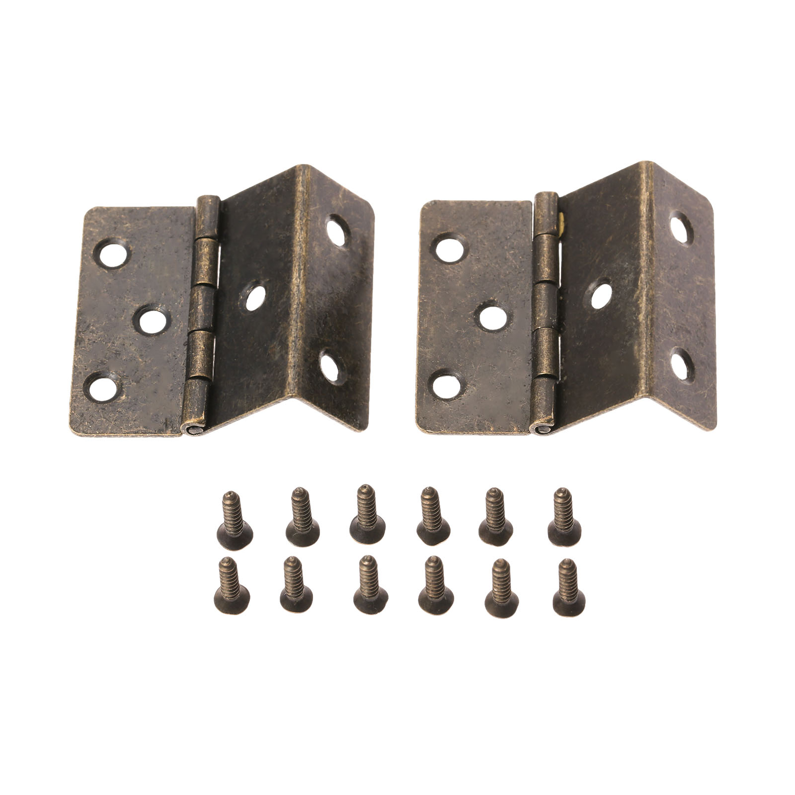 DRELD 2Pcs 44*45*22mm Triple Fold Door Hinges Furniture Hardware for Cabinet Trunk Jewelry Box Storage Box Furniture Fittings
