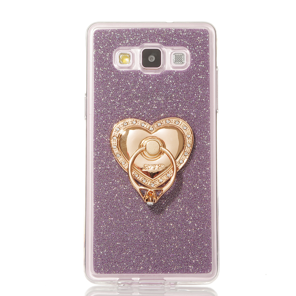 For <font><b>Samsung</b></font> Galaxy A8 Case Heart-shaped Pattern with 360 Rotate Ring Holder Stand Luxury Glitter Cover Case For <font><b>Samsung</b></font> A8 <font><b>A8000</b></font> image