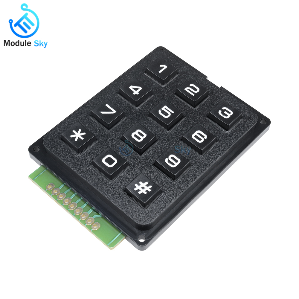 Collection Here Eziusin 100pcs 12*12*4.3 Dip Interrupteur Pcb Keyboard Touch Micro Switch Mini Red Button Keys Diy For Maker Fast Color Lights & Lighting