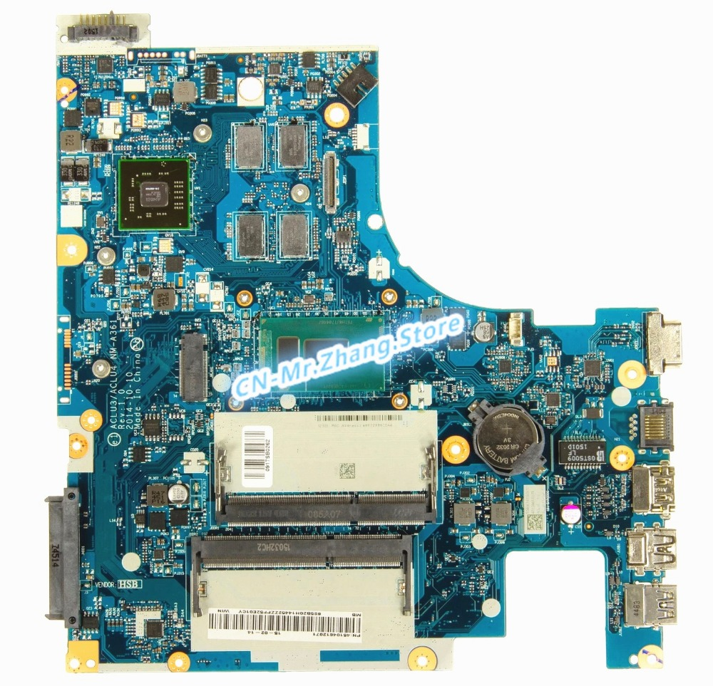 SHELI FOR <font><b>Lenovo</b></font> G50-80 Laptop Motherboard W/ I5-5200U CPU ACLU3/ACLU4 <font><b>NM</b></font>-<font><b>A361</b></font> DDR3L R5-330M GPU 2GB RAM image