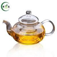 600 ml A Doppia Parete di Vetro Teiera Con Infusore Filtro di Vetro Bollitore Tè Verde Teiera Tè Del Puer Teiera