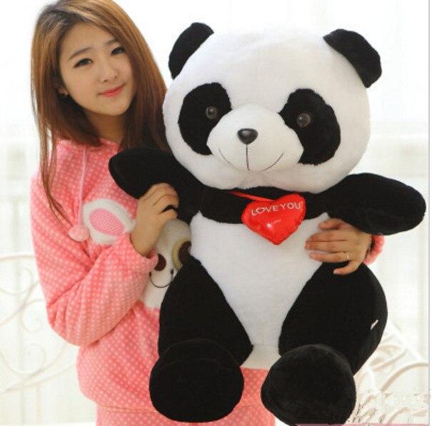 huge 70cm panda  I love you  giant Panda doll Christmas gift w8767 huge 70cm lovely gaint panda plush toy panda doll softh throw pillow christmas gift w2479