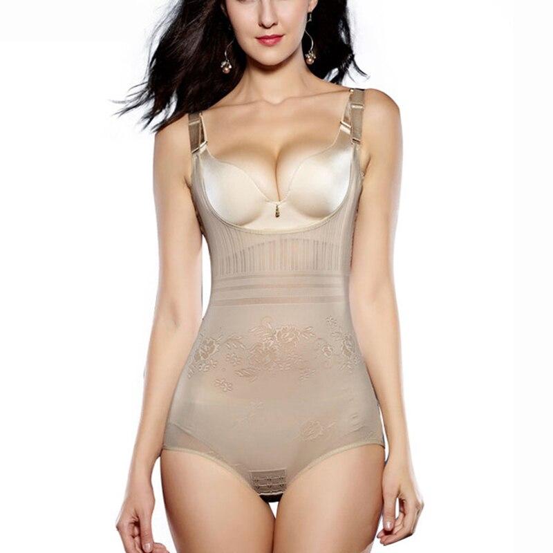 Body Shaper Women Slimming Shapewear High Elastic Waist Shaper Breathable Bodysuit Sexy Corset Adjustable Pulling Underwear
