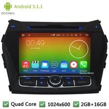 Quad Core 16GB Android 5.1.1 2Din HD 1024*600 WIFI FM RDS Car DVD Player Radio Stereo Screen For Hyundai IX45 Santa FE 2013-2015