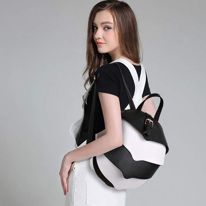 Fashion Halloween PU Leather Women Backpacks Beetle Model School Monster Backpack For Women Teenage Girls Mochilas Feminina Bags