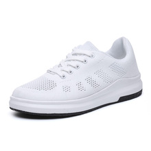 Outdoor Sneakers Casual Shoes Women Walking  Flat Breathable Lightweight Black and White Sport for JINBEILE